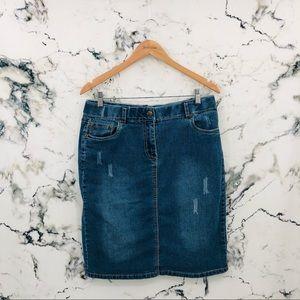 Penningtons d/C JEANS Distressed Denim Skirt